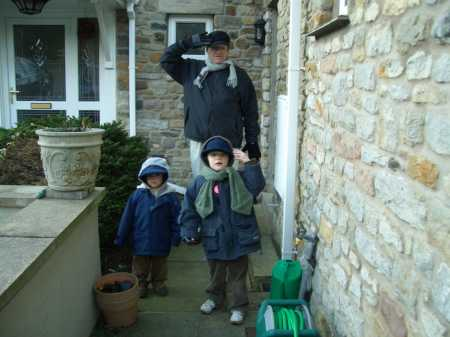 Jim & the grandsons ready for the winter