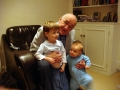 Grandad with Robert & Daniel